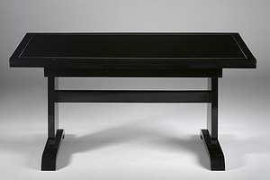 Ebonised dining table