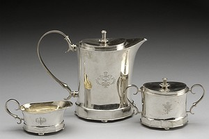 Neoclassical Silver Teaset
