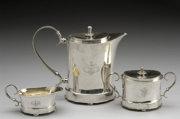 Large image of Neoclassical Silver Teaset