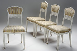 Four Art Noveau Chairs