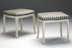 Pair of Art Noveau Stools