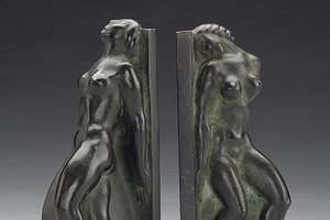 Bronze Bookends Axel Gute