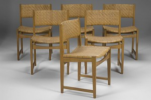 Set of six Cane Chairs
