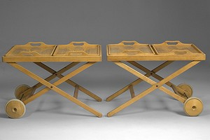 Pair of Wirkkala Tea Trolley