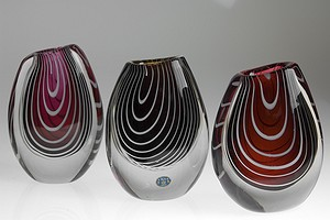 Group of Lindstrand vases