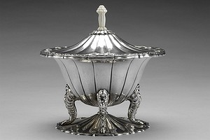 Silver and Ivory Lidded Pokal