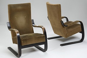Pair of Alvar Aalto Armchairs No. 401