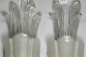 A pair of Orrefors Sconces