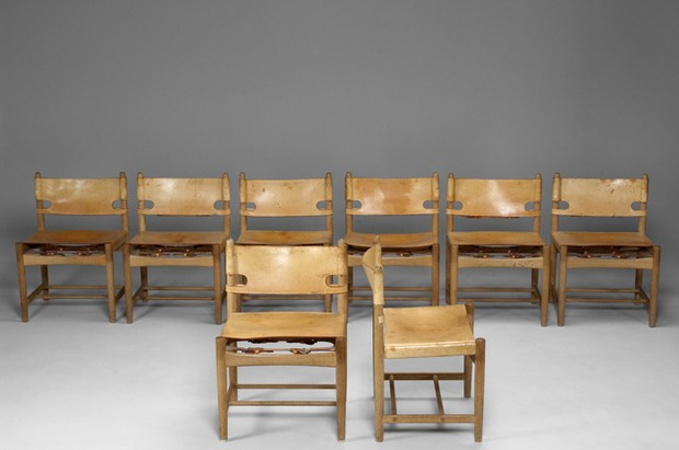 Large image of Six Børge Møgensen Chairs