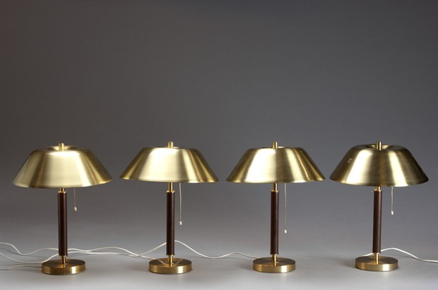 Large image of Set of Four Table Lamps