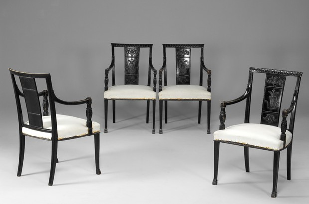 Large image of Rare A-E Hjorth Armchairs
