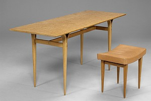 Bruno Mathsson Table and Stool