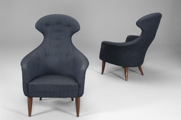 "Large image of Pair of ""Big Eva"" armchairs"