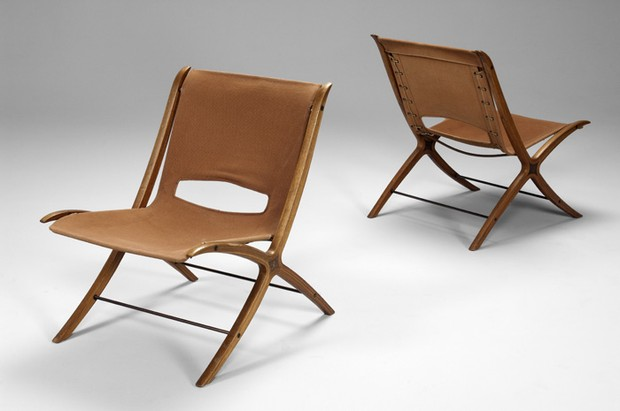 Large image of Pair of X Chairs