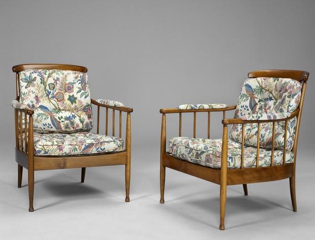 """Large image of Pair of Kerstin Hörlin Homqvist """"Skrindan""""Chairs"""