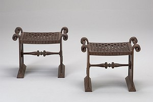 Pair Näfveqvarn Iron Stool Nr.1