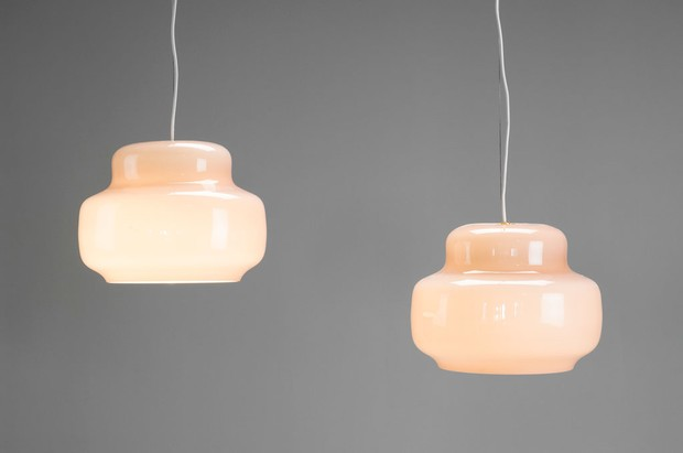 Large image of Pair of Venini Ceiling Lamps