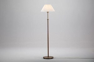 Leather Wrapped Floor Lamp
