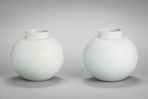 Pair of white vases