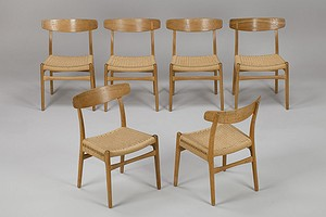 Set of Six Wegner Chairs
