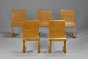 Set of five Aalto 21 Cantilever Chairs