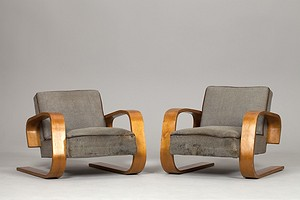 Pair of Alvar Aalto Tank Chairs
