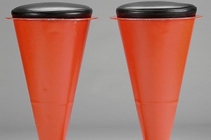 A Pair of Cone Bar Stools