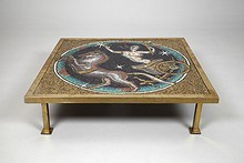 "Mosaic Table  ""The God Apollo in a chariot"""