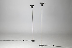 "Pair of ""Champagne Flute"" Floor Lamps"