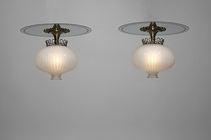 Pair of 1940s Ceiling Lamps