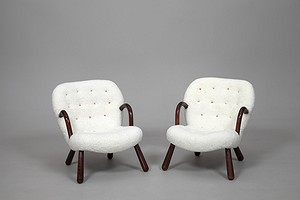 Pair of Arctander Sheep Skin Chairs