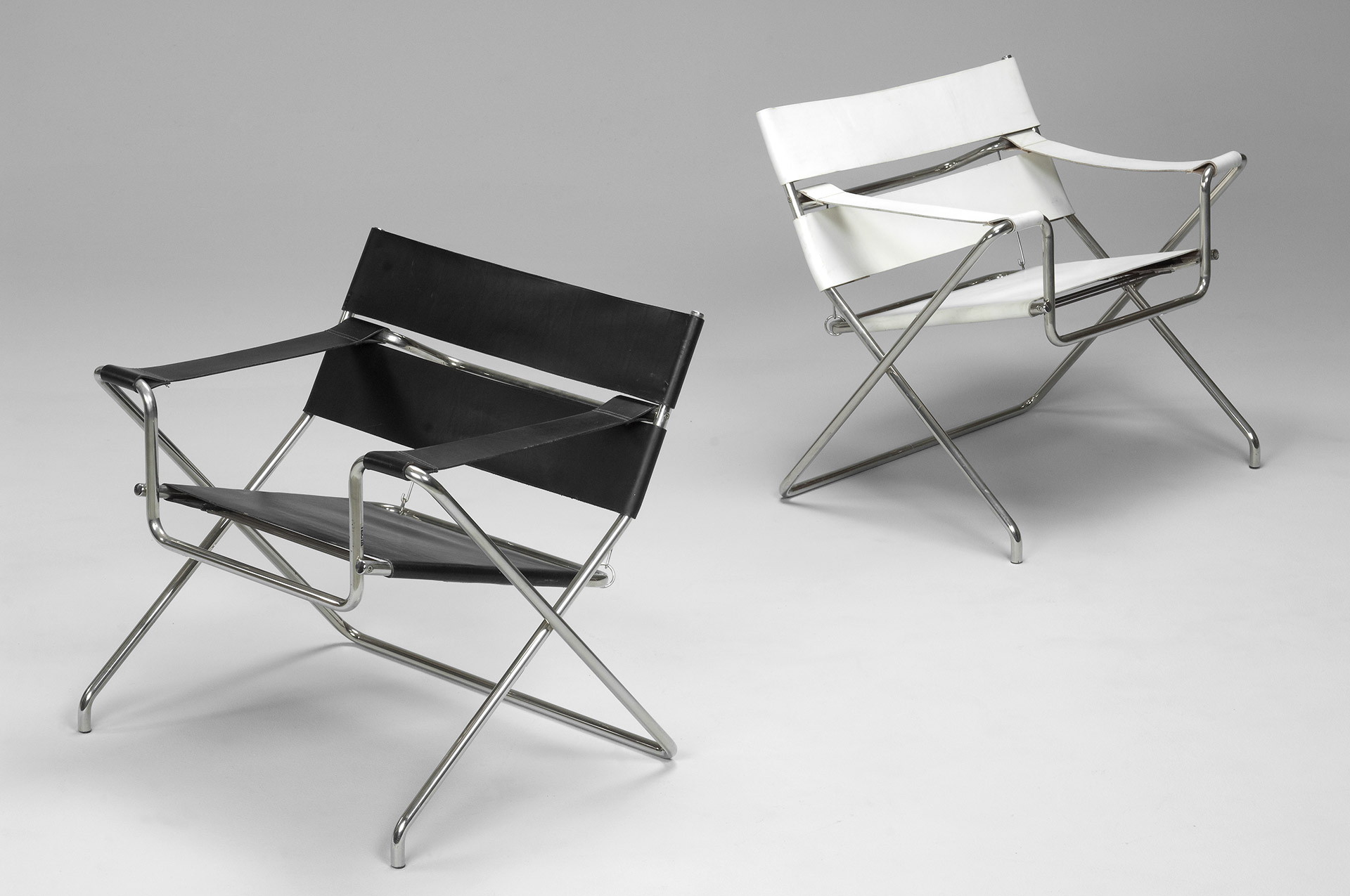 Jacksons Pair of B4 Folding Chairs Marcel Breuer