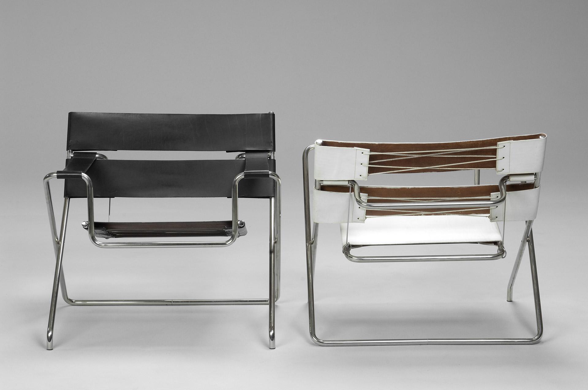 Jacksons Pair of B4 Folding Chairs Marcel Breuer