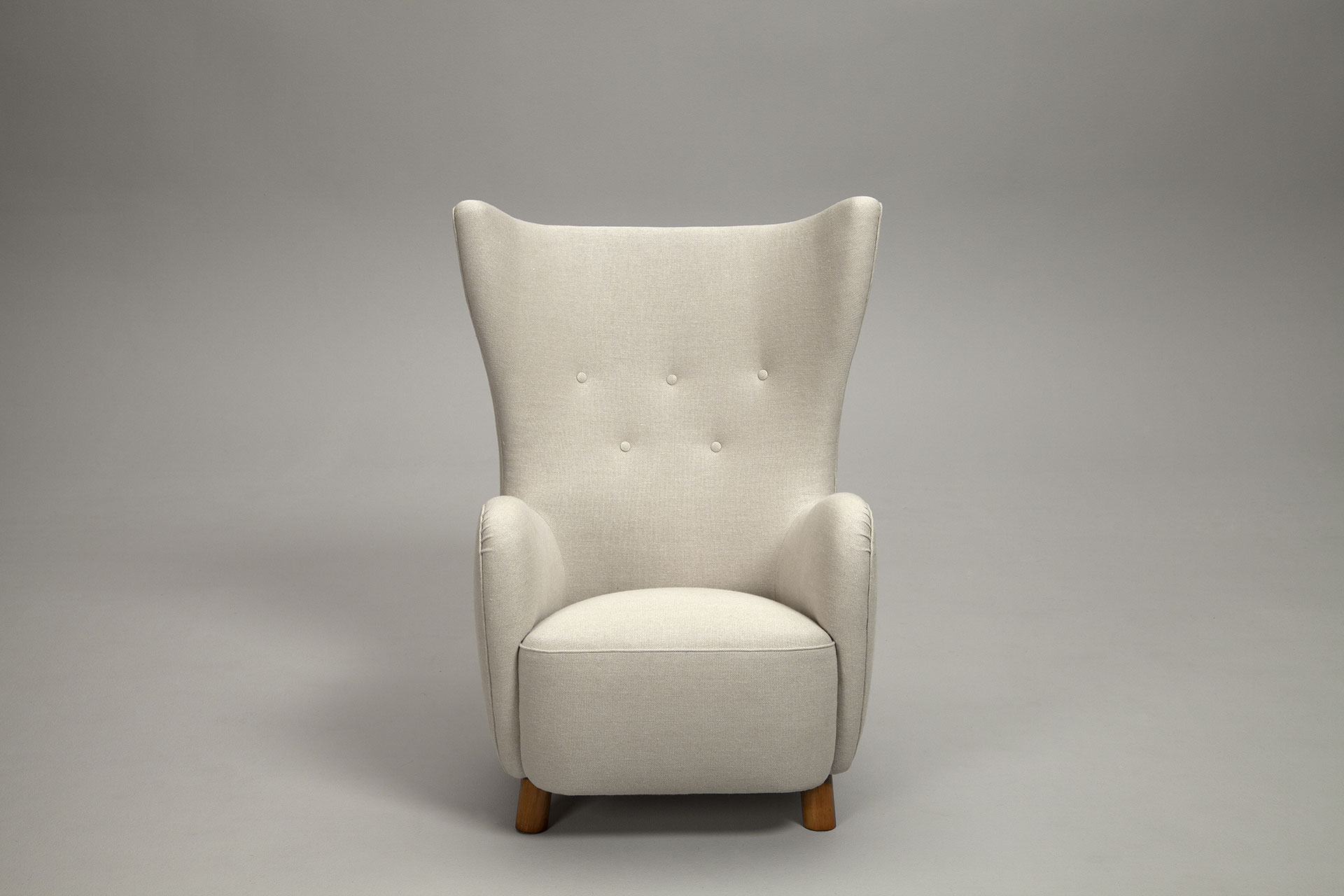 Jacksons Pair of Wing Chairs Mogens Lassen