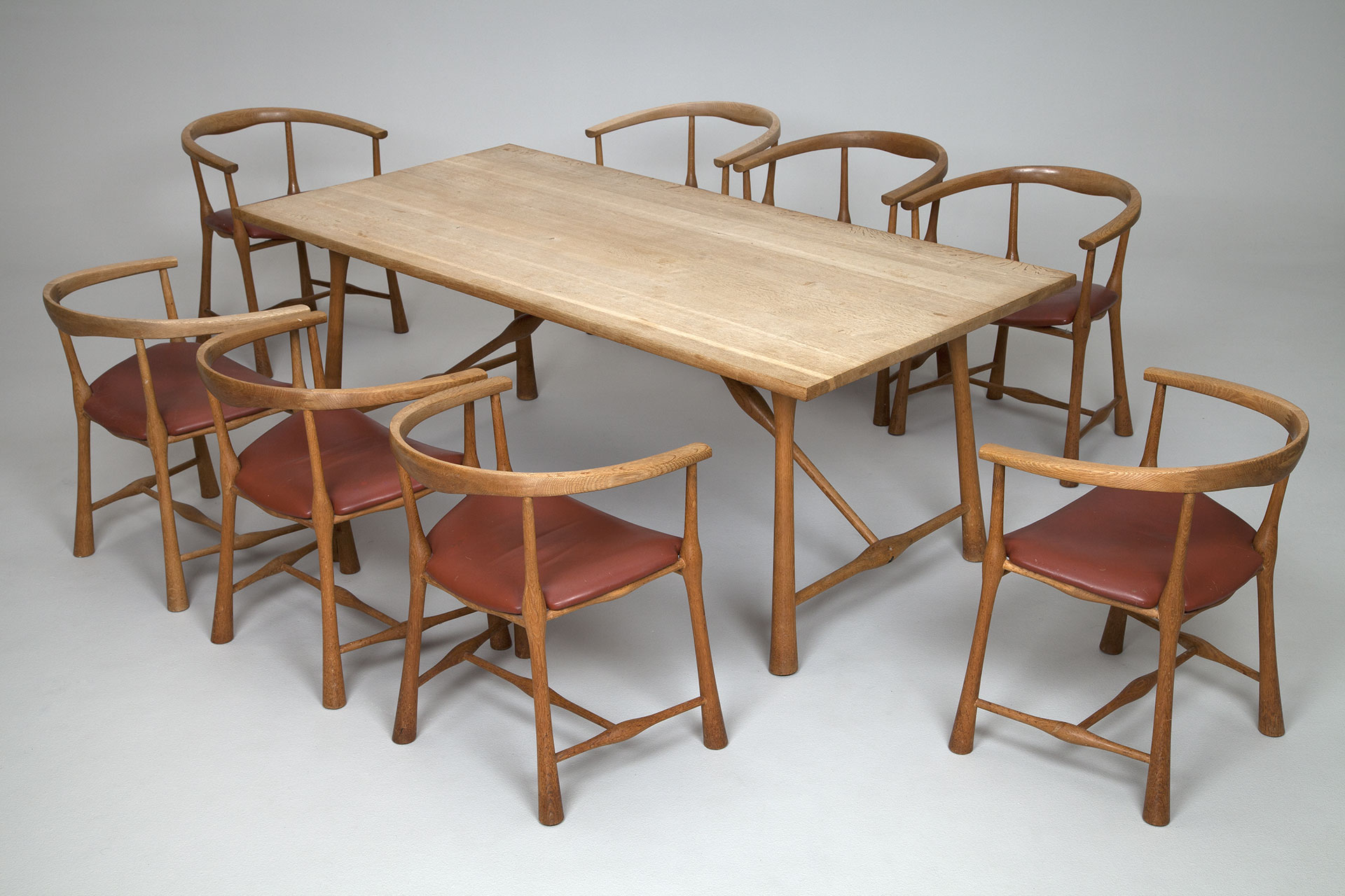 jacksons dining table and eight chairs jens quistgaard
