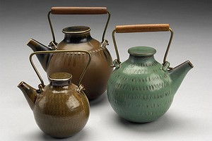 Group of Stig Lindberg Tea Pots