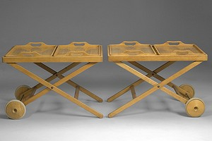 Pair of Wirkkala Tea Trolleys