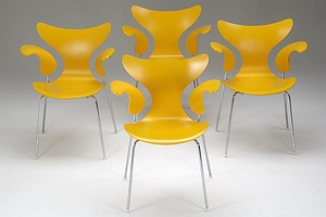 Set of six Jacobsen Seagull Chairs