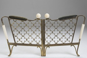 Bronze and Ivory Sofa