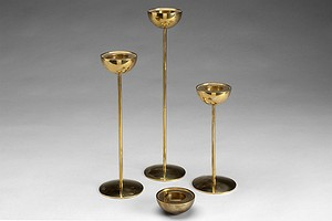Four Bronze Candelsticks