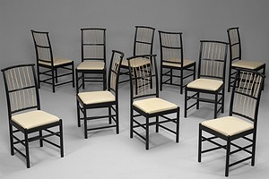 Set of Ten Josef Frank Chairs