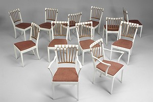 Twelve Josef Frank Chairs