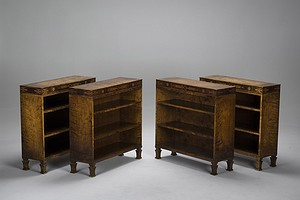 Pair of Neoclassical Bookshelves