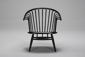 "Black ""La Crinolette"" Chair"