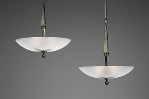 Pair of Orrefors Lamps