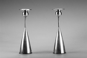 Finnish Silver Candlesticks