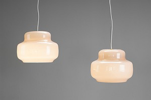 Pair of Venini Ceiling Lamps