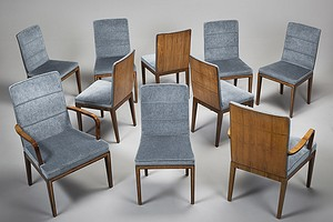 Eight Chairs and Two Armchairs