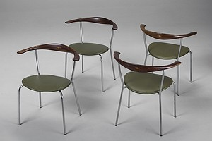 Four JH 701 Wegner Chairs