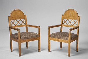 Two Pair of Armchairs